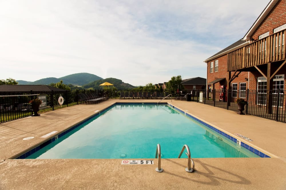 Swimming pool at Mountaineer Village in Boone, North Carolina