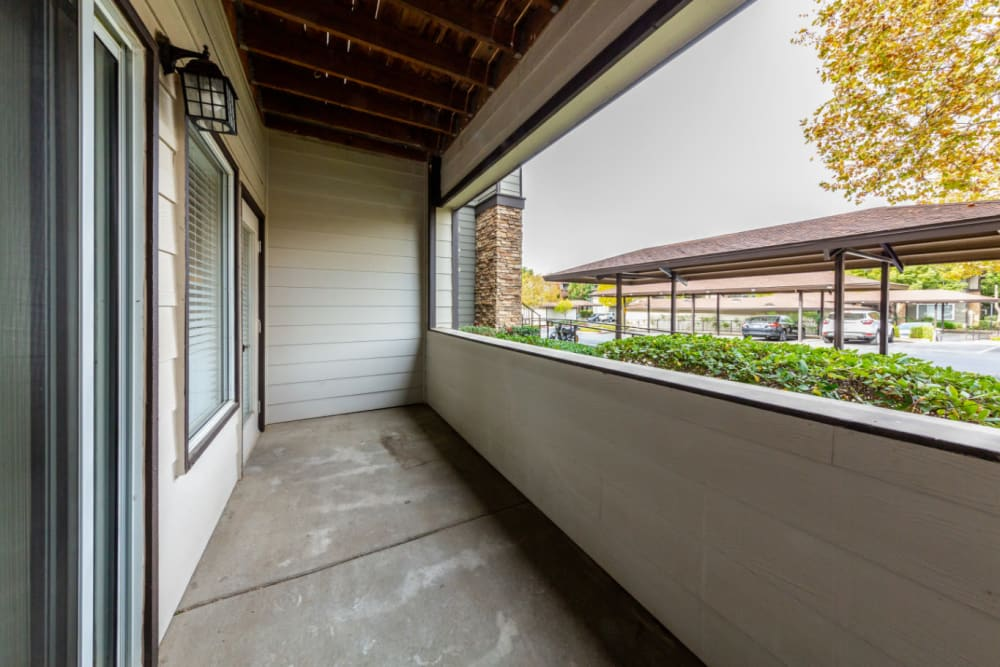 Private patio at The Fairmont at Willow Creek in Folsom, California