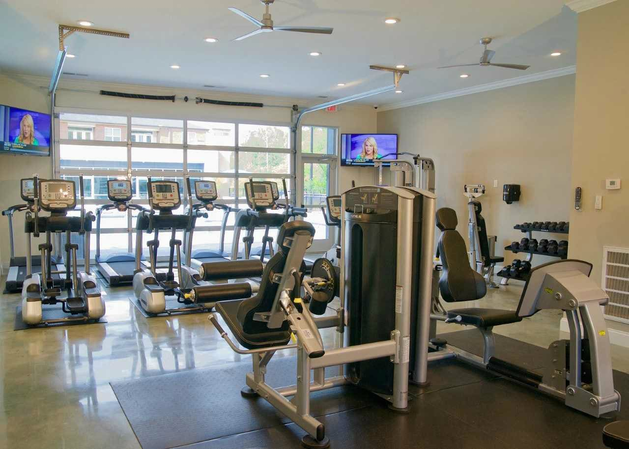 State-of-the-art gym at Encore North in Greensboro, North Carolina