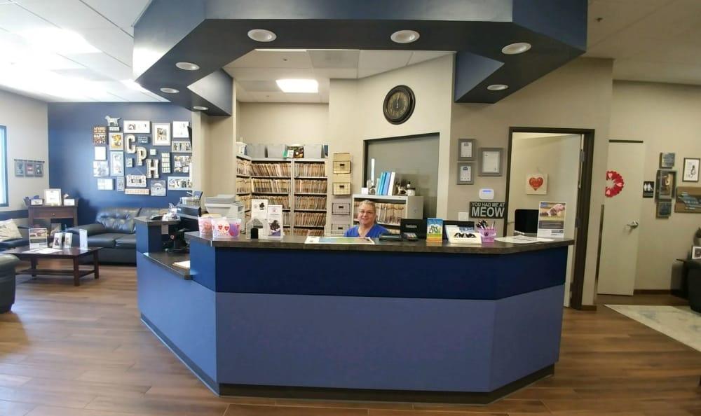 Front desk at Catalina Pet Hospital