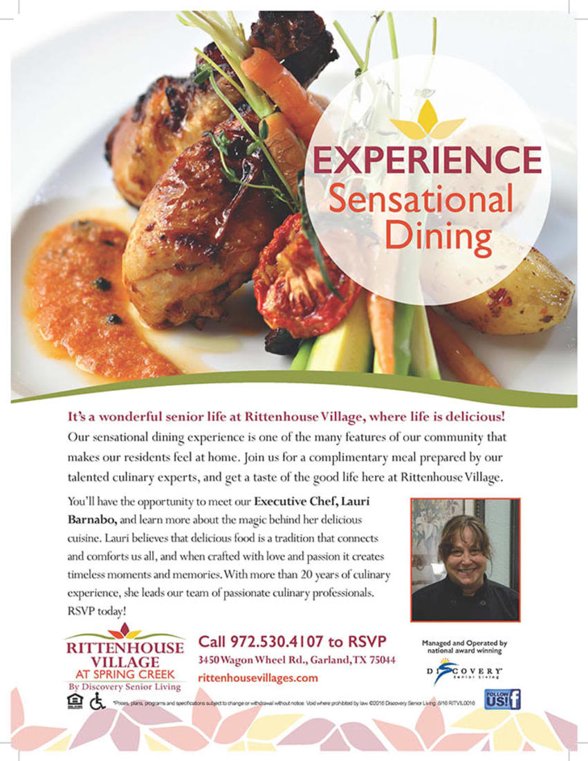 Experience sensational dining at Discovery Commons At Spring Creek in Garland, Texas