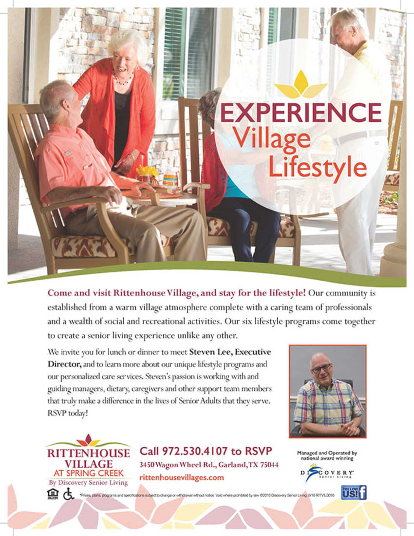 Experience village lifestyle at Discovery Commons At Spring Creek in Garland, Texas