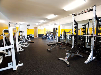 Mountaineer Village offers a spacious fitness center in Boone, North Carolina