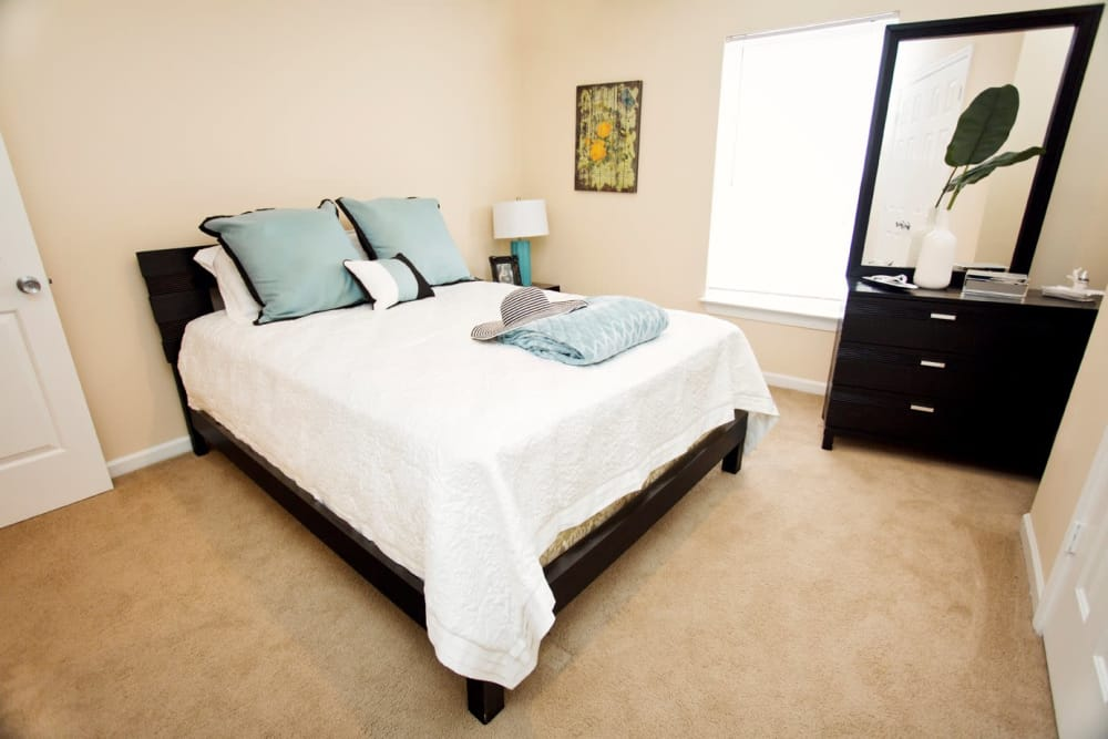 Spacious bedroom at Mountaineer Village in Boone, North Carolina