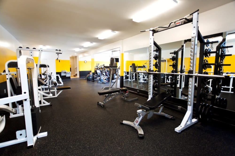 State-of-the-art fitness center at Mountaineer Village in Boone, North Carolina