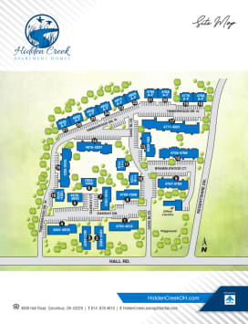 Printable site map image at Hidden Creek Apartment Homes in Columbus, Ohio