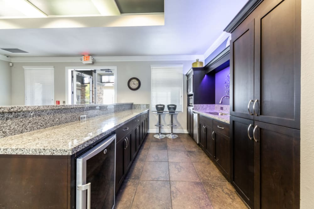 Community kitchen at The Fairmont at Willow Creek in Folsom, California
