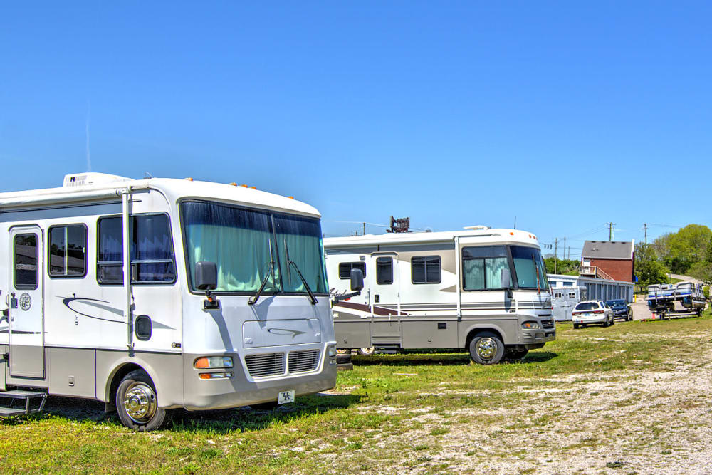 RV parking at Safe Storage in Nicholasville, Kentucky