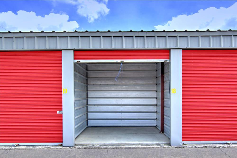 Outdoor storage unit at Safe Storage in Nicholasville, Kentucky