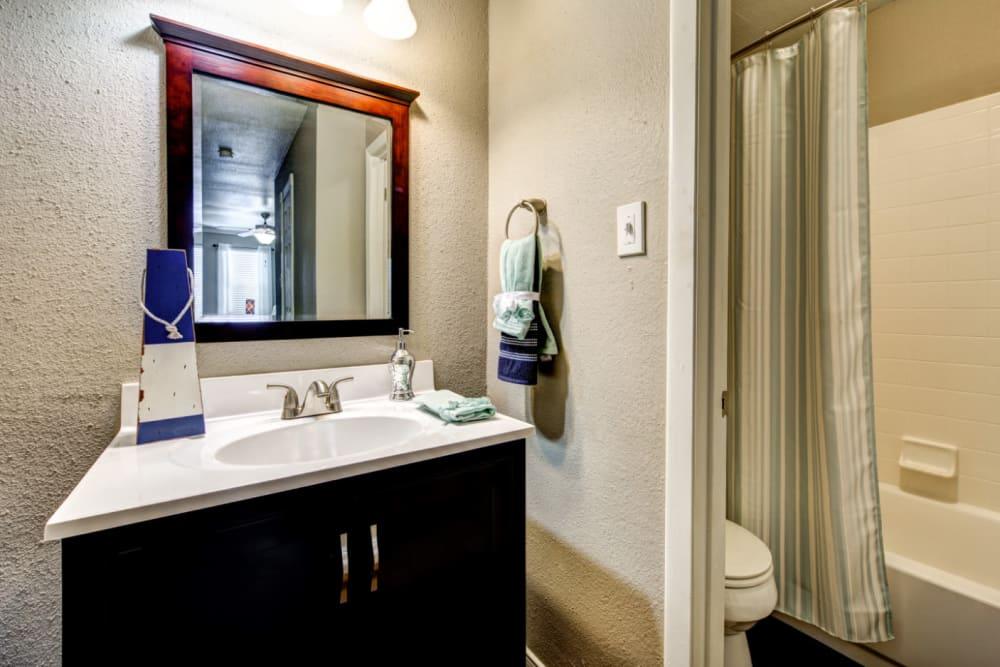 Clean bathroom at Austin Midtown in Austin, Texas