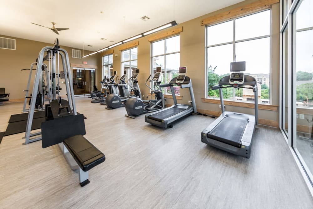 Fitness center for residents at Marquis at Canyon Ridge in Austin, Texas