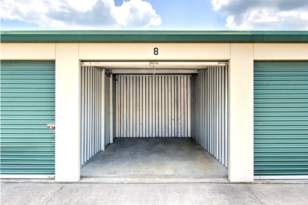 Outdoor storage units at Prime Storage in Kingsport, Tennessee