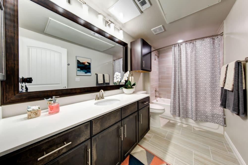 Clean bathroom at Marquis at Cinco Ranch in Katy, Texas