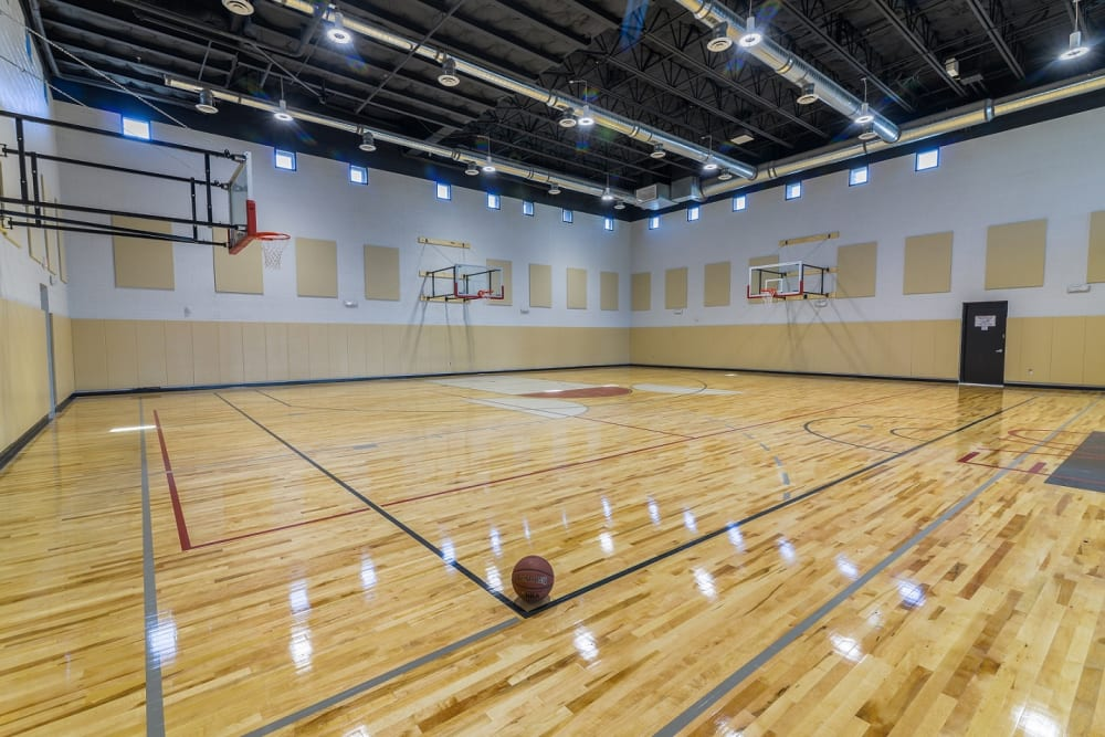 Multi-use Indoor Basketball Court at EVO Apartments in Las Vegas, Nevada