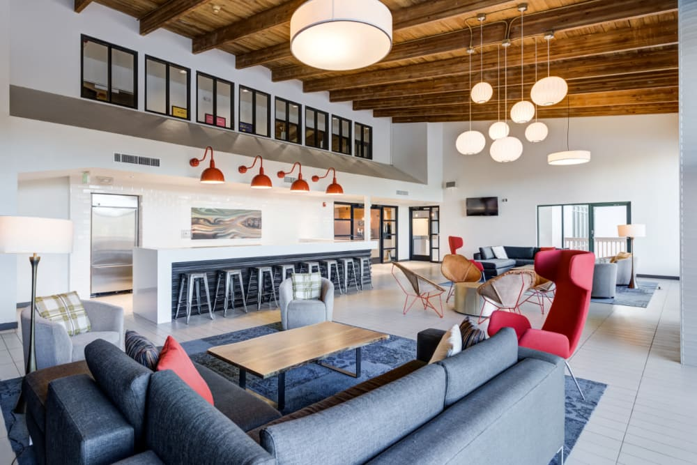 Entertaining clubhouse offering entertainment options at Ashford Belmar in Lakewood, Colorado