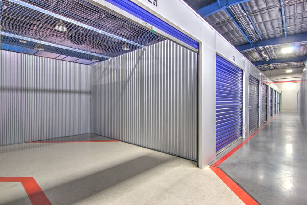 Indoor storage units at Prime Storage in Kingsport, Tennessee