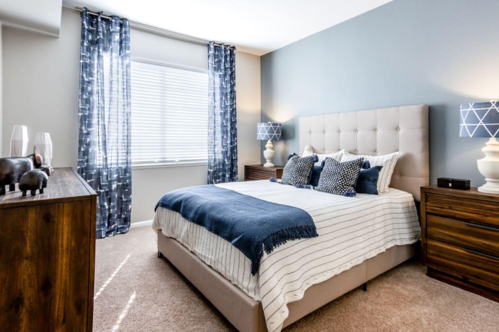 Cozy bedroom at The Links at Plum Creek in Castle Rock, Colorado