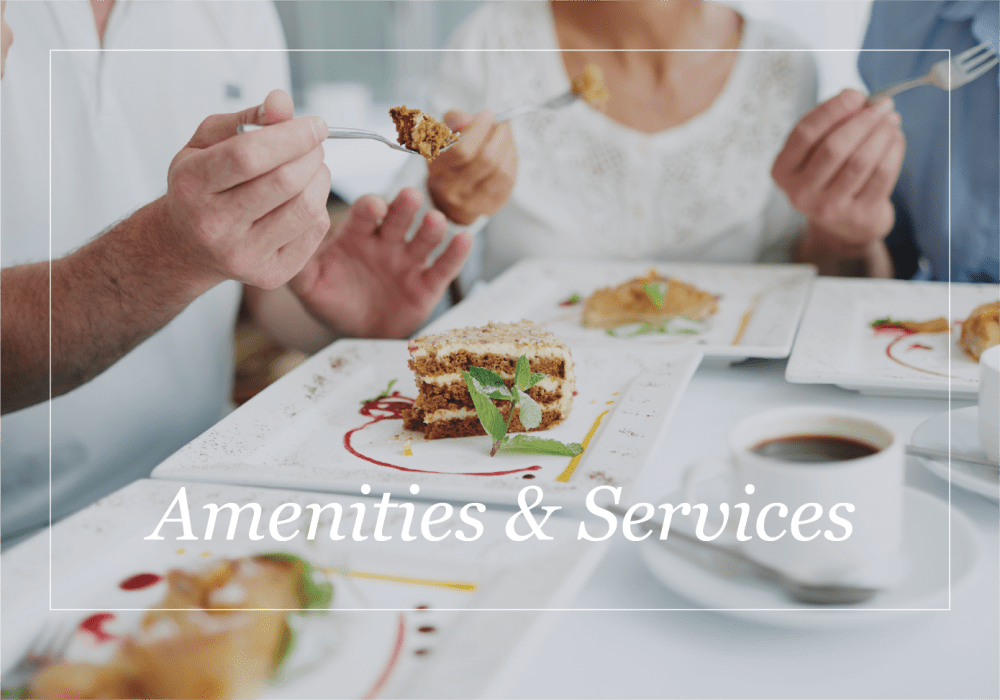 Amenities and services at Sea View Senior Living Community in Brookings, Oregon