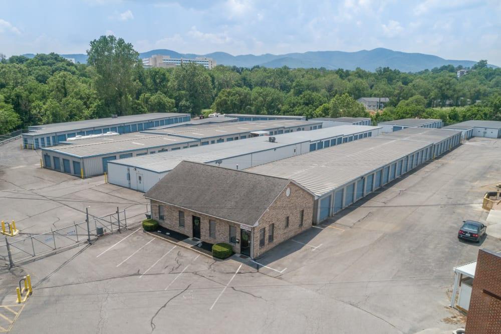 Aerial view of Apperson Self Storage in Salem, Virginia