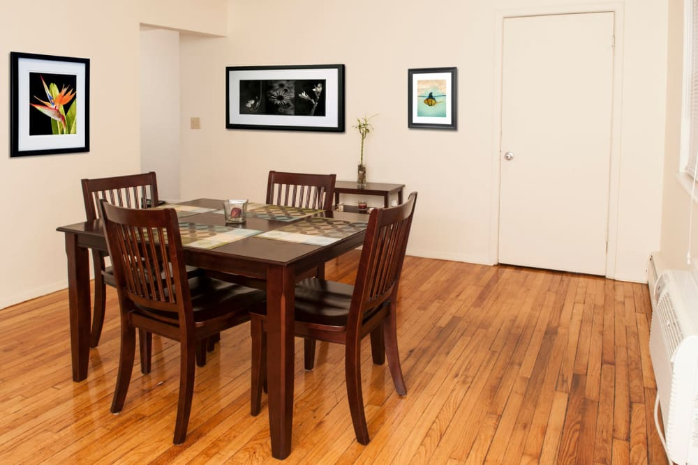 Dining room at 84-90 Essex Street in Hackensack, New Jersey