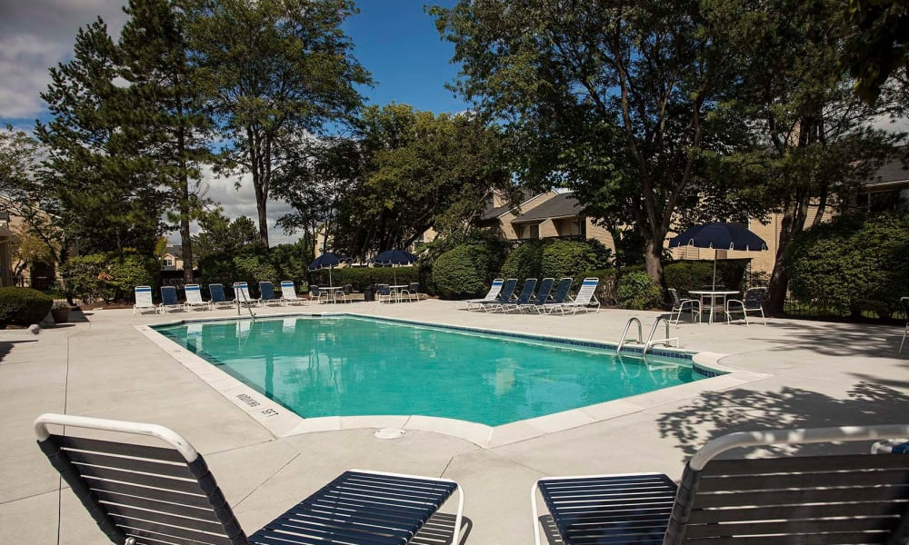 Swimming pool at Amberly in West Bloomfield, Michigan
