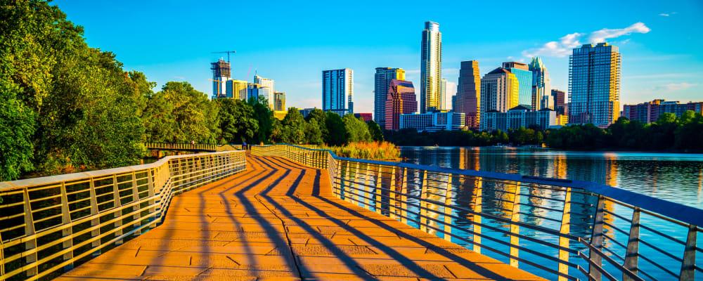 Riverside path in Austin, Texas near Regents West at 26th