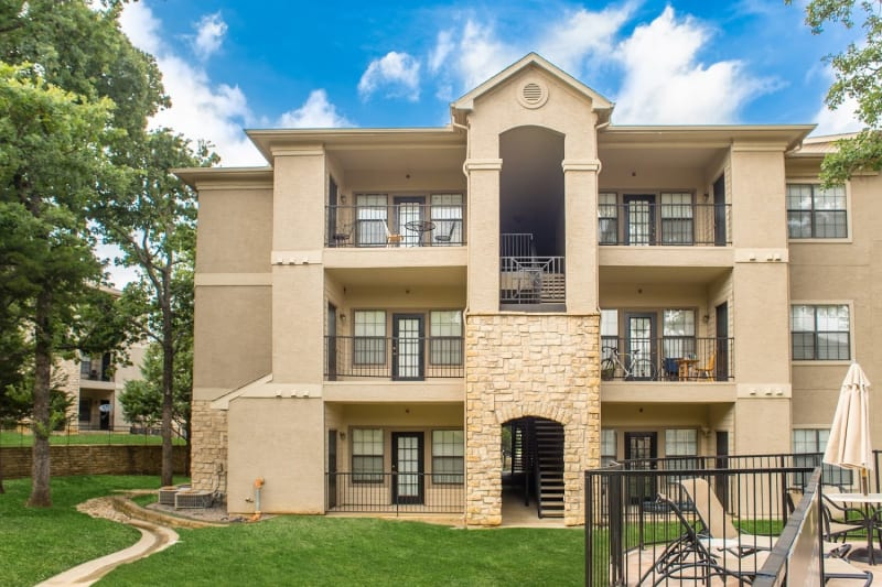 A private balcony at The Aidan in Lewisville, Texas