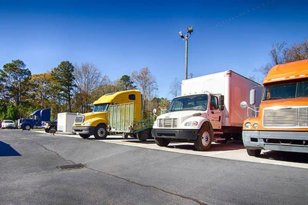 Commercial parking at Metro Self Storage in Rex, GA
