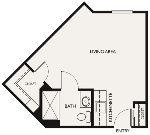 Assisted Living Studio I at The Commons at Dallas Ranch in Antioch, California