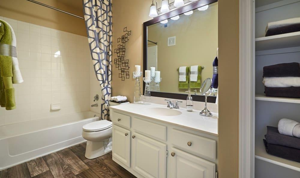 Bathroom at Legend Oaks Apartments