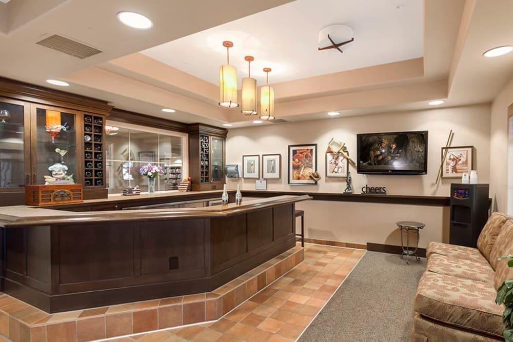Private bar at Merrill Gardens at Green Valley Ranch in Henderson, Nevada.