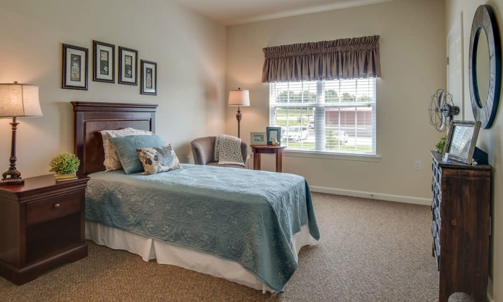 Cozy floor plan for assisted living residents at Etheridge House Senior Living in Union City, Tennessee