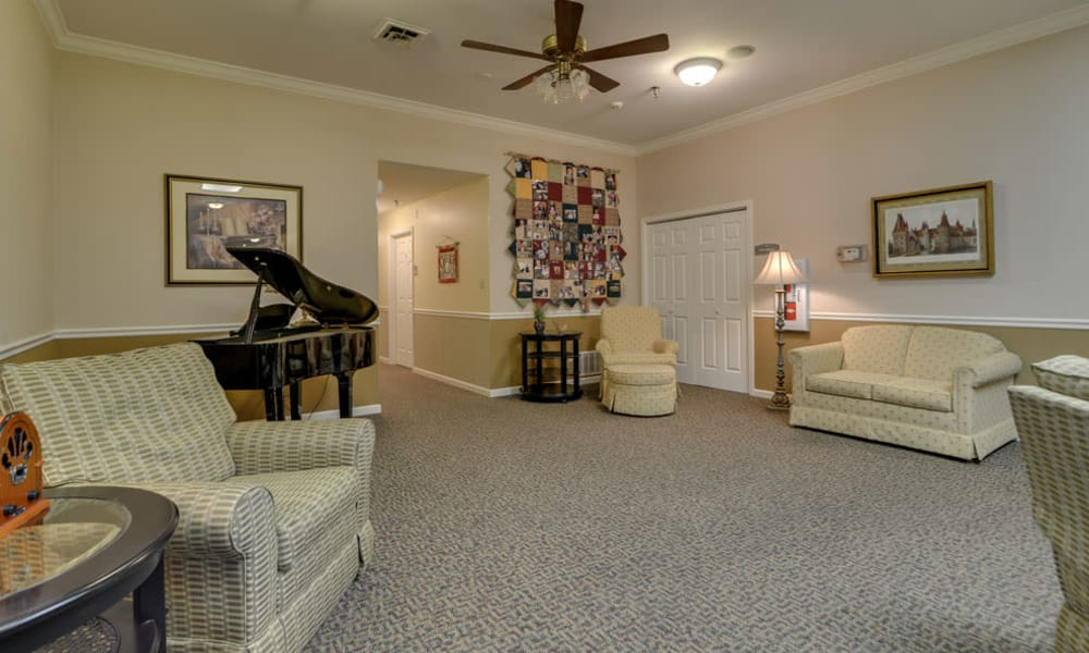 Music room at The Arbors at WestRidge Place in Sikeston, Missouri