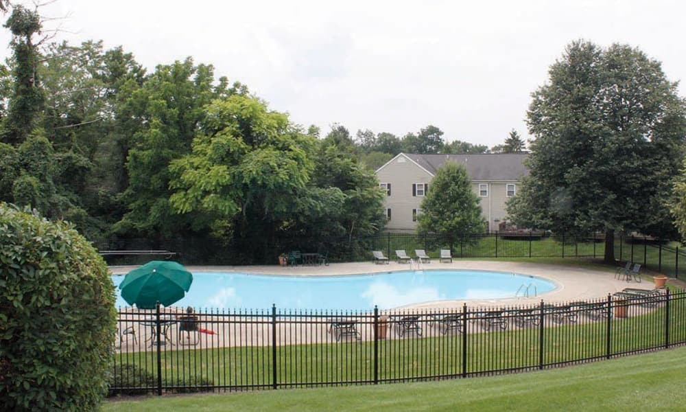 Enjoy the sparkling pool at The Encore at Laurel Ridge in Harrisburg