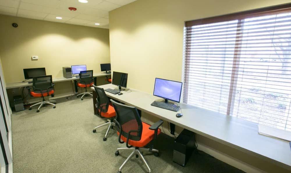 Media center at The Drake Apartments