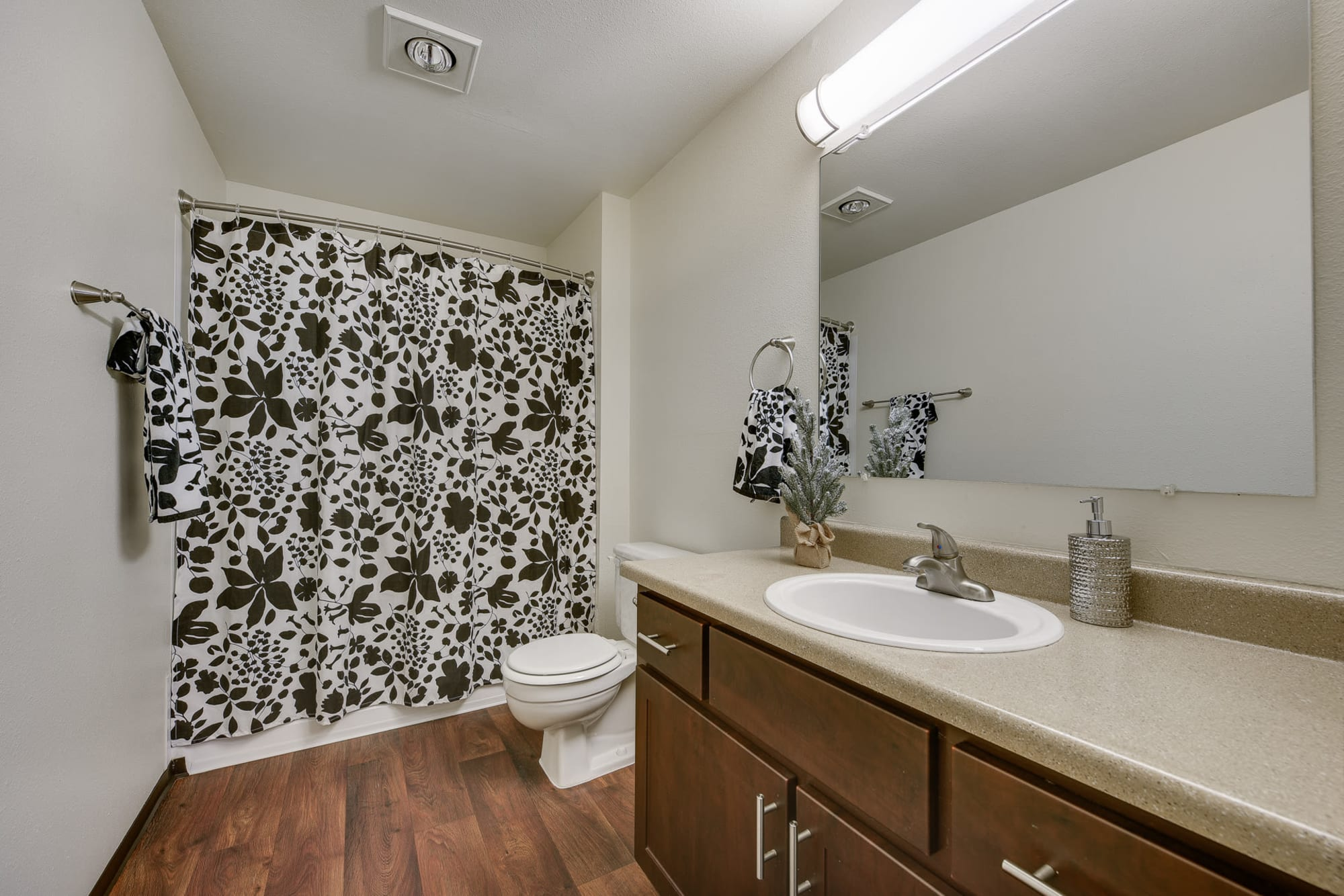 Bathroom with a tub at Renaissance at 29th Apartments in Vancouver, Washington