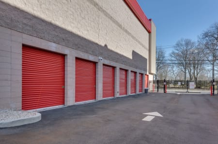 Drive up units at StorQuest Self Storage in West Babylon, New York