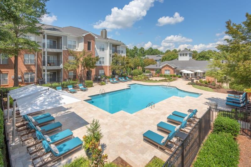 Resort style pool at Presley Oaks in Charlotte, North Carolina