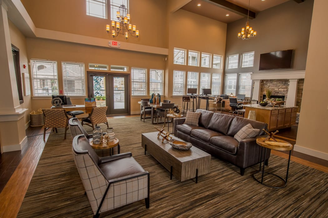 Luxury clubhouse for residents at Scissortail Crossing Apartments in Broken Arrow, Oklahoma
