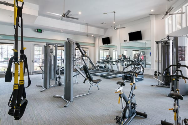 Fitness equipment at Landings at Four Corners in Davenport, Florida