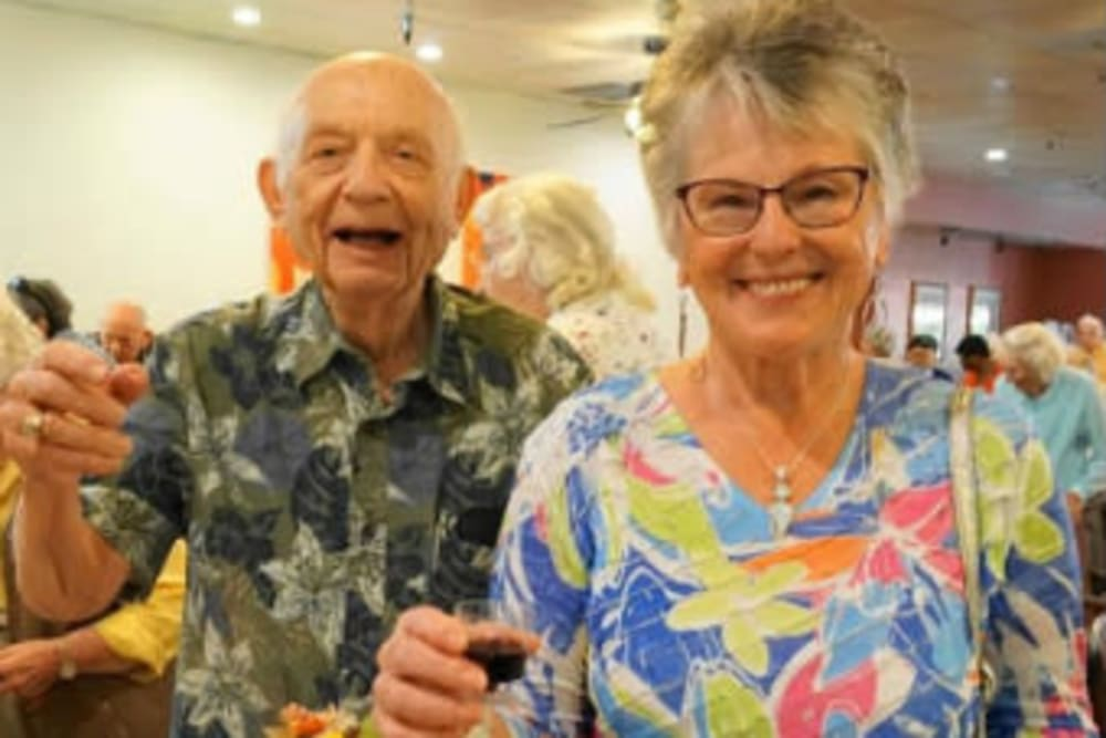 Happy couple at Campus Commons Senior Living in Sacramento, California
