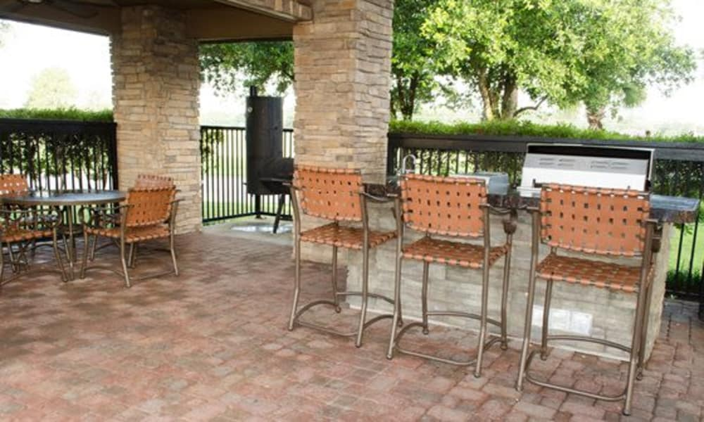 Barbecue area at Station at Mason Creek in Katy, Texas