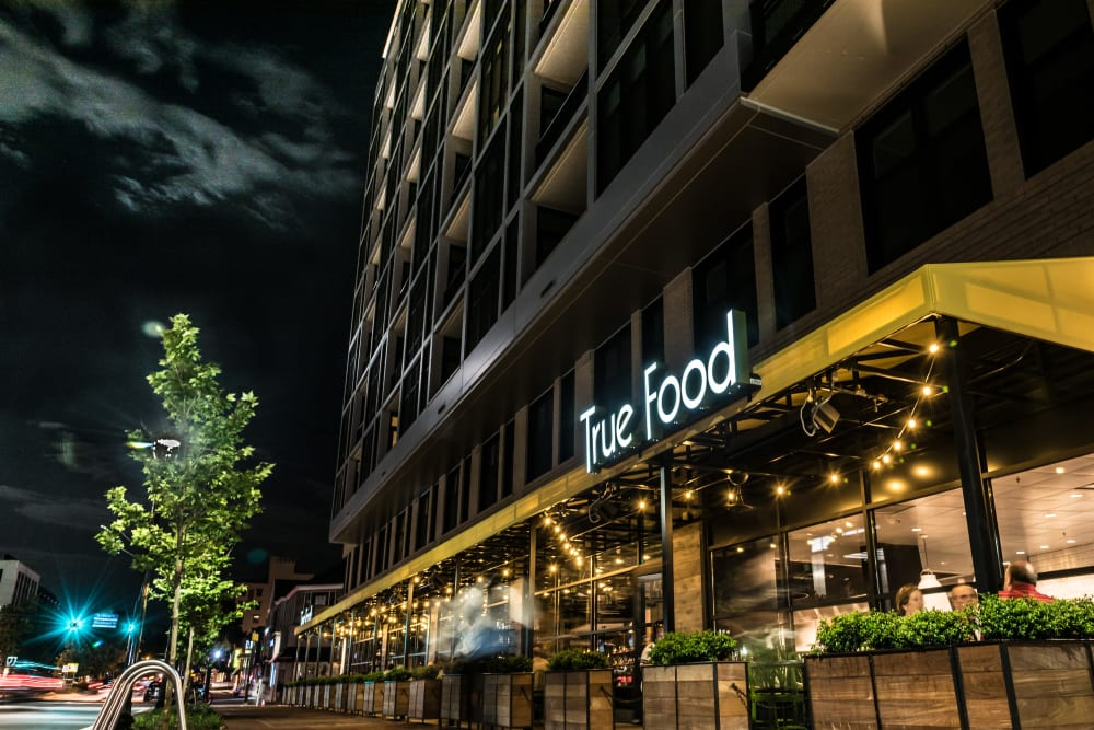 True Food restaurant at Solaire 7077 Woodmont in Bethesda, Maryland