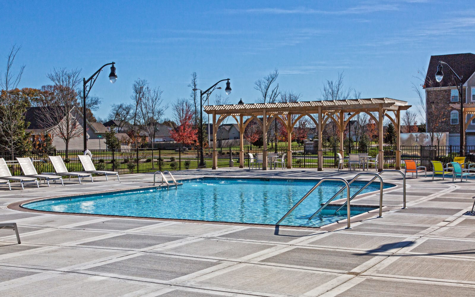 Sparkling swimming pool at Arbor Brook in Murfreesboro, Tennessee