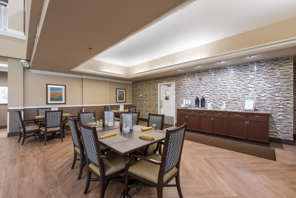 A dining room at Waterview Court in Shreveport, Louisiana.