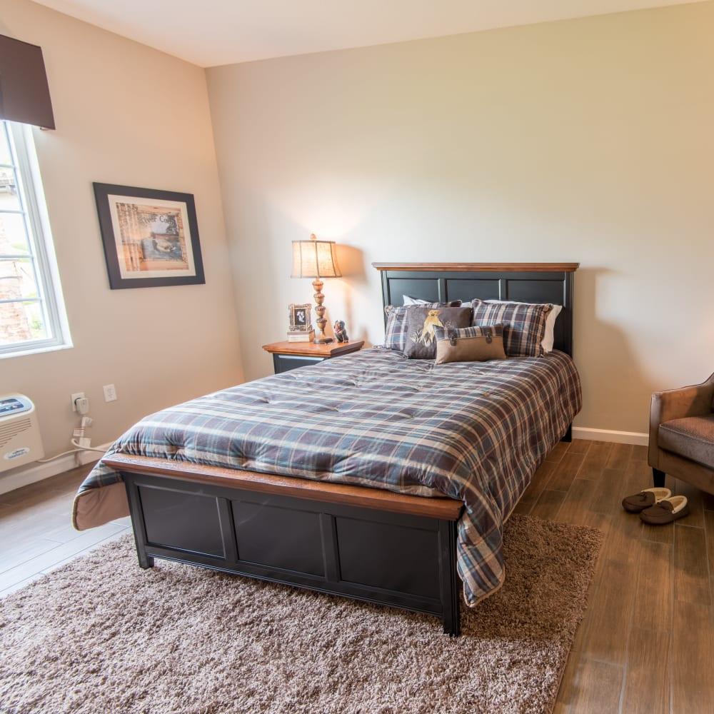 Model bedroom at Inspired Living at Bonita Springs in Bonita Springs, Florida
