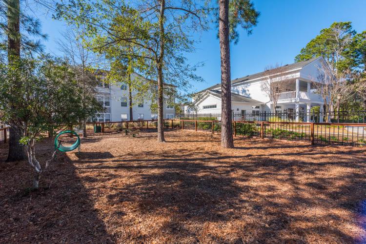 Onsite dog park at Ingleside Apartments in North Charleston, South Carolina