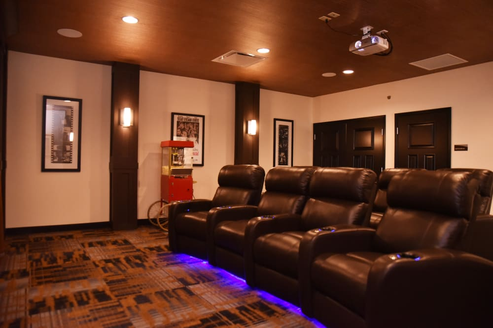 Movie theater at Violet Springs Health Campus in Pickerington, Ohio.
