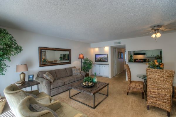 Enjoy a spacious living room at Verona Park Apartments