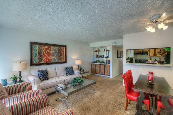 Luxury living room at Verona Park Apartments